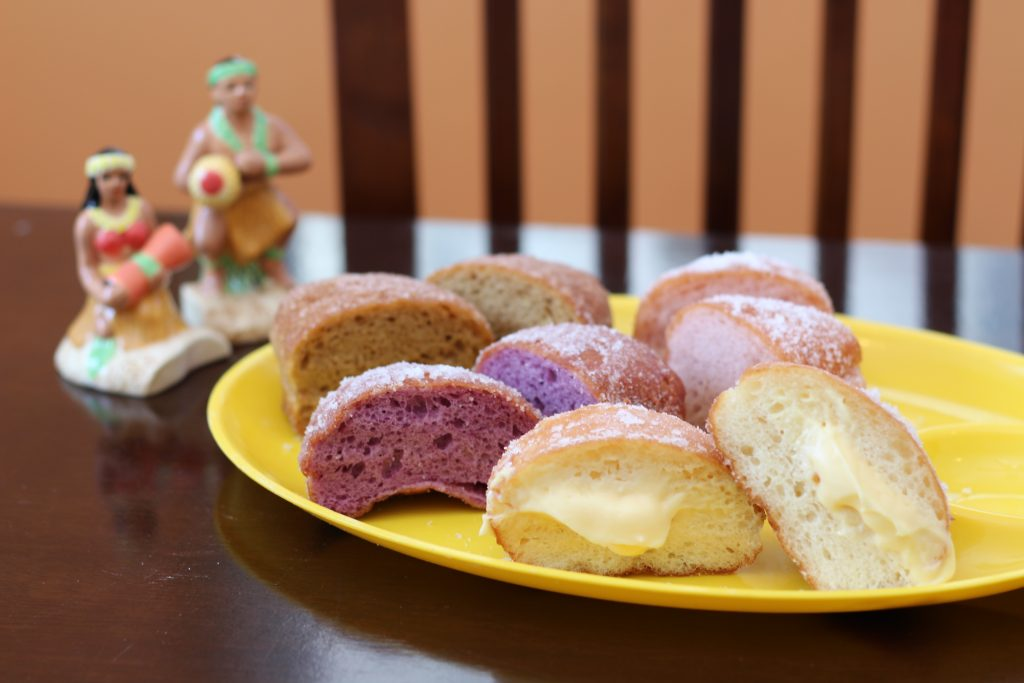 Hawaiian donuts made in Okinawa  Mermaid Bakery (Aragusuku