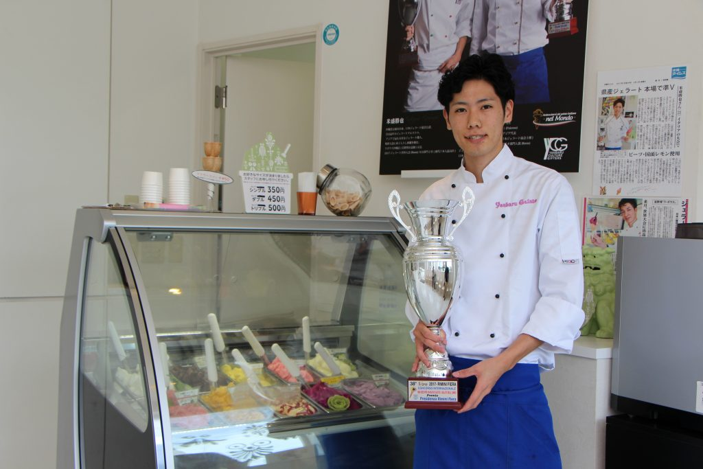 Young world-renowned gelato maestro